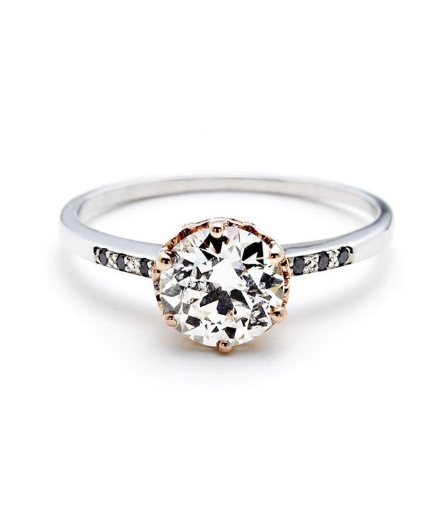 Anna Sheffield Hazeline Solitaire Ring - White Diamond