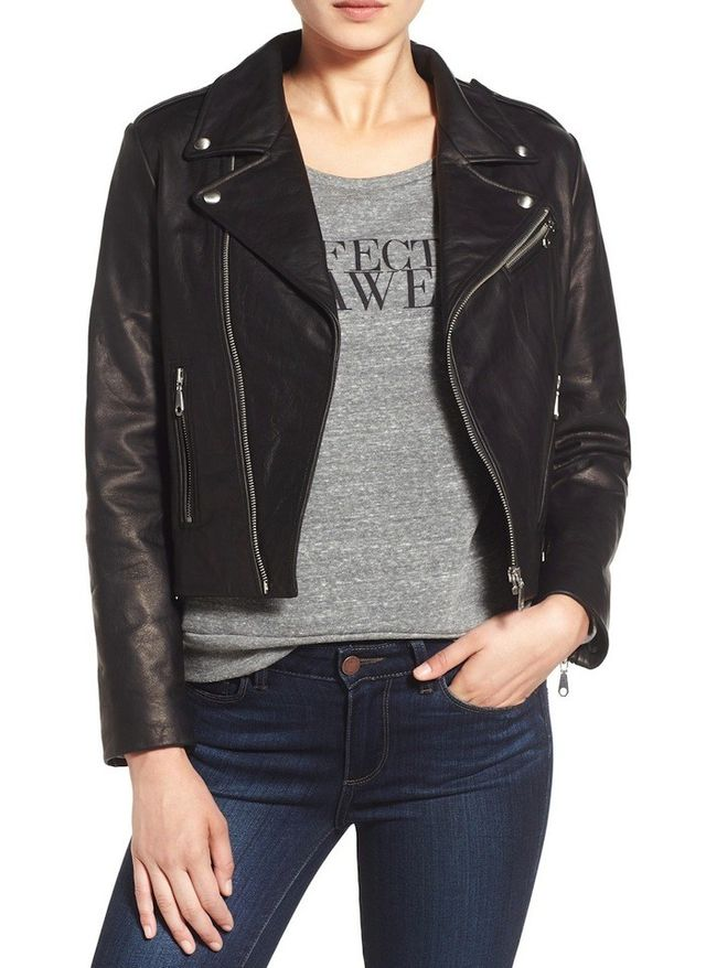 Rebecca Minkoff Nana Leather Moto Jacket