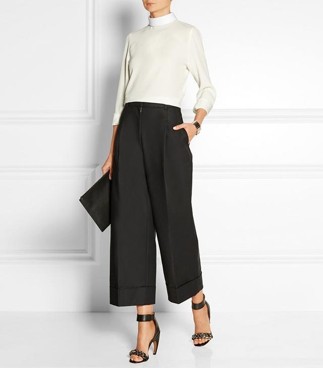 3.1 Phillip Lim Cropped Cotton-Blend Wide-Leg Pants