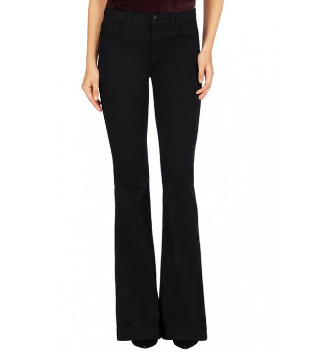 J Brand Maria Flare Jeans in Seriously Black