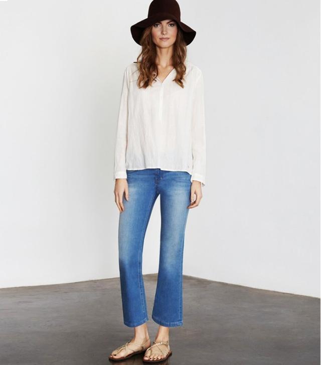 Ida Kitty Ankle Swinger Jeans in Urban Cashmere