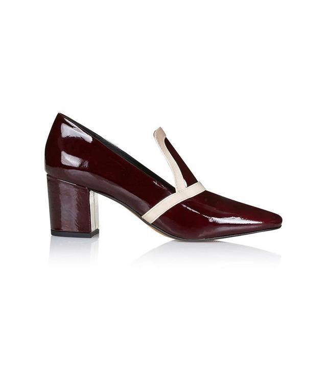 Topshop June Patent Mid-Heel Loafers