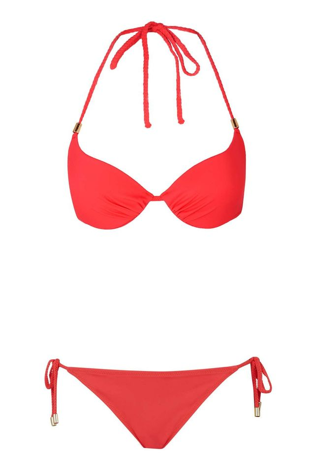 Topshop Braided Plunge Bikini Top and Bottoms