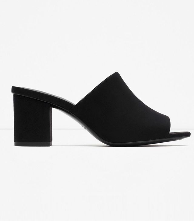 Zara High-Heel Backless Sandals