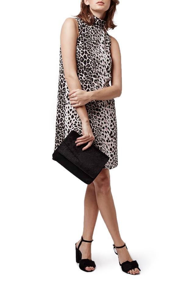 Topshop Leopard Print Tunic Dress
