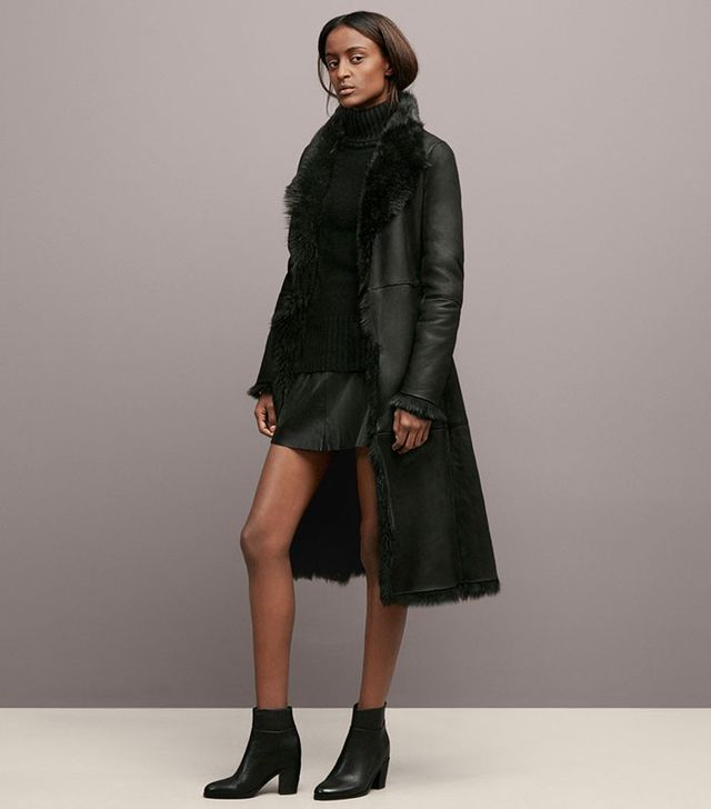 Kenneth Cole Shearling Coat