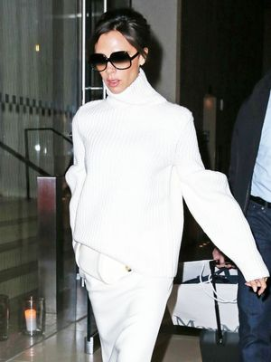 Victoria Beckham Does Winter White, World Stocks Up on Washing Powder