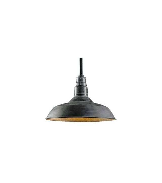 Restoration Hardware Weathered Zinc Pendant Light