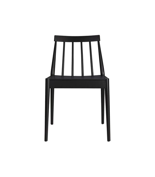 CB2 Hemstad Black Chair