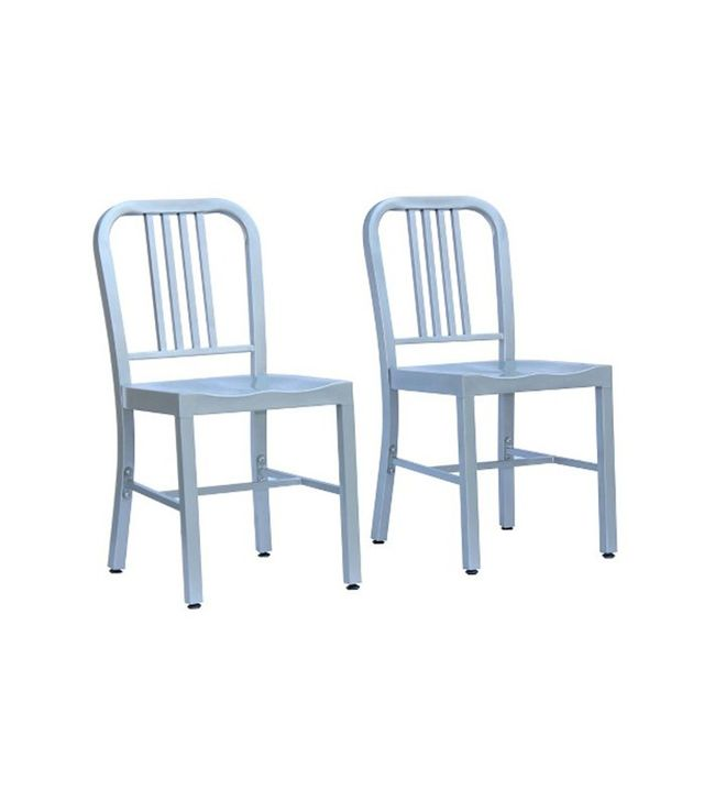 Target Set of 2 Silver Metal Dining Chairs