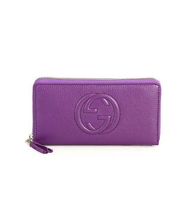 Gucci Soho Leather Zip-Around Wallet