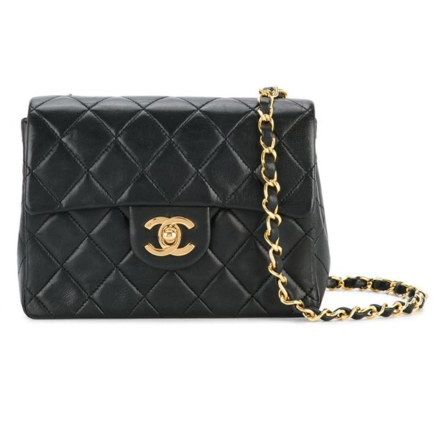 Chanel Quilted Logo CC Bag
