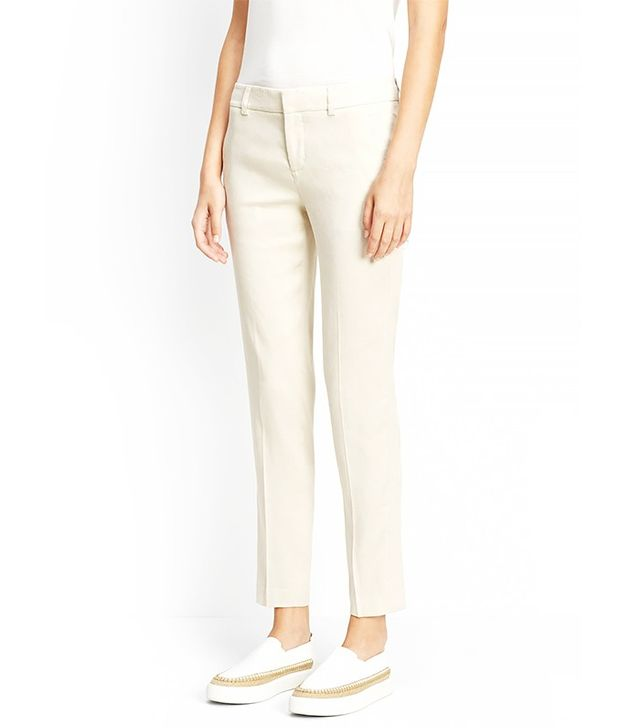 Vince Linen Blend Side Strapping Pants