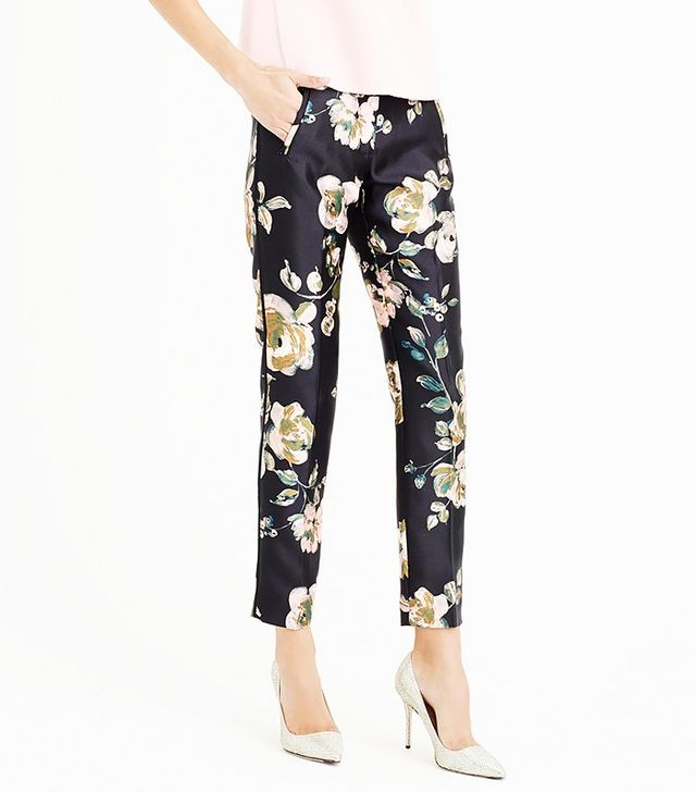 J.Crew Collection Cropped Pants in Painterly Floral