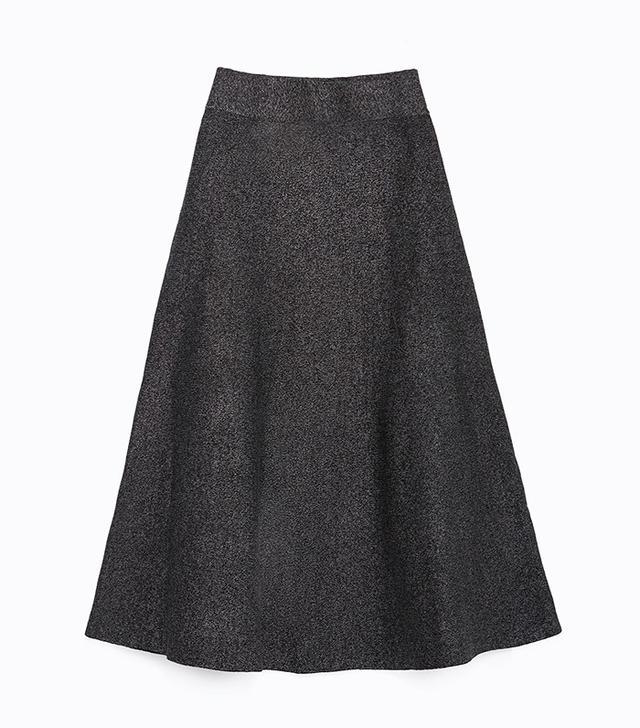 Zara Long A-Line Skirt