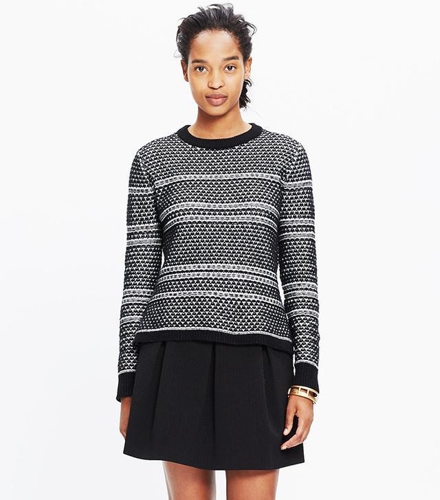 Madewell Fineprint Pullover Sweater