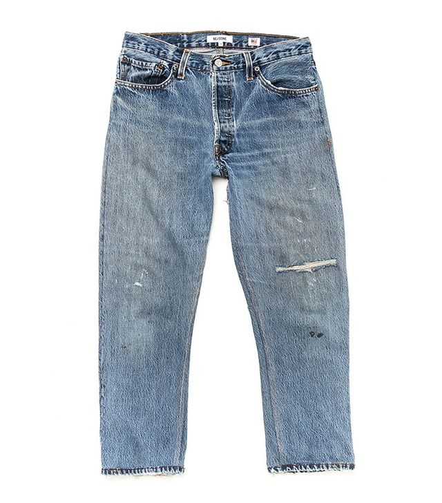 Re/DONE High-Rise Cropped Jeans