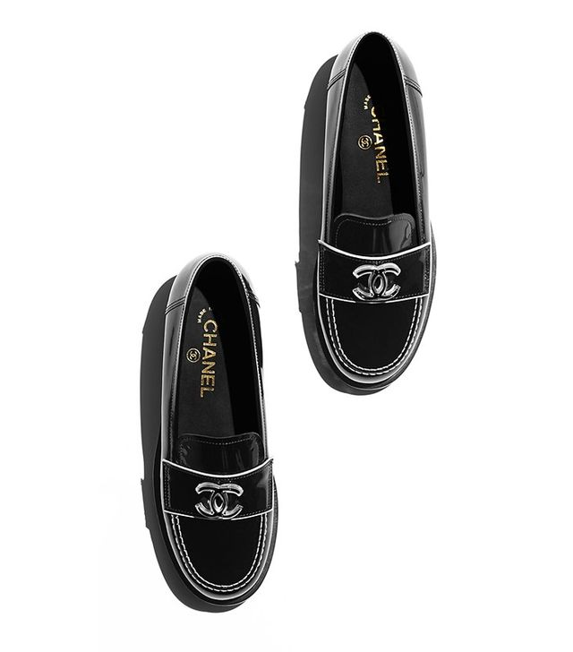 Chanel Patent Calfskin Loafers
