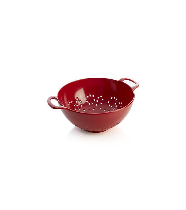 Crate and Barrel Red Mini Colander