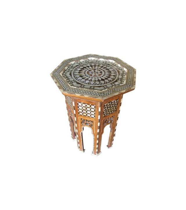 1stdibs Moroccan Inlay Side Table