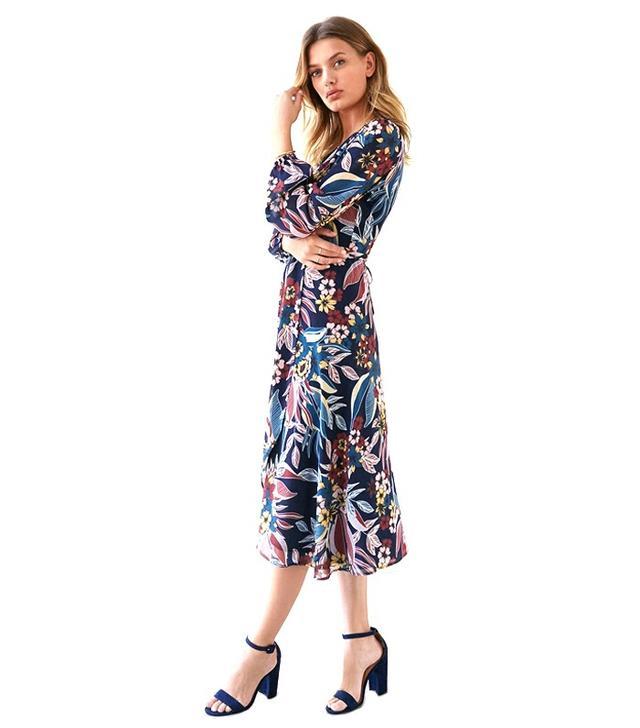 Bardot Botanic Print Wrap Dress
