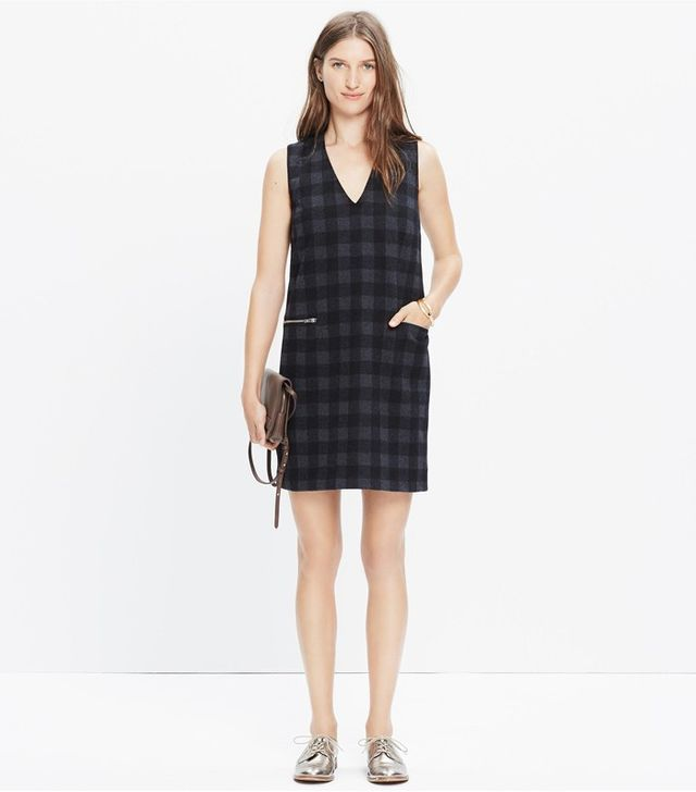 Madewell Buffalo Check Jumper Dress