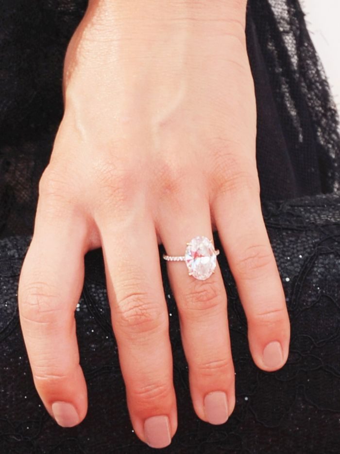 9 Celebs With the Prettiest Classic Engagement Rings Who What Wear