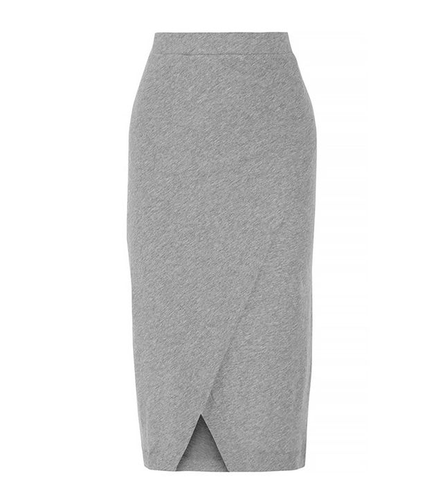Enza Costa Cotton and Cashmere-Blend Midi Skirt