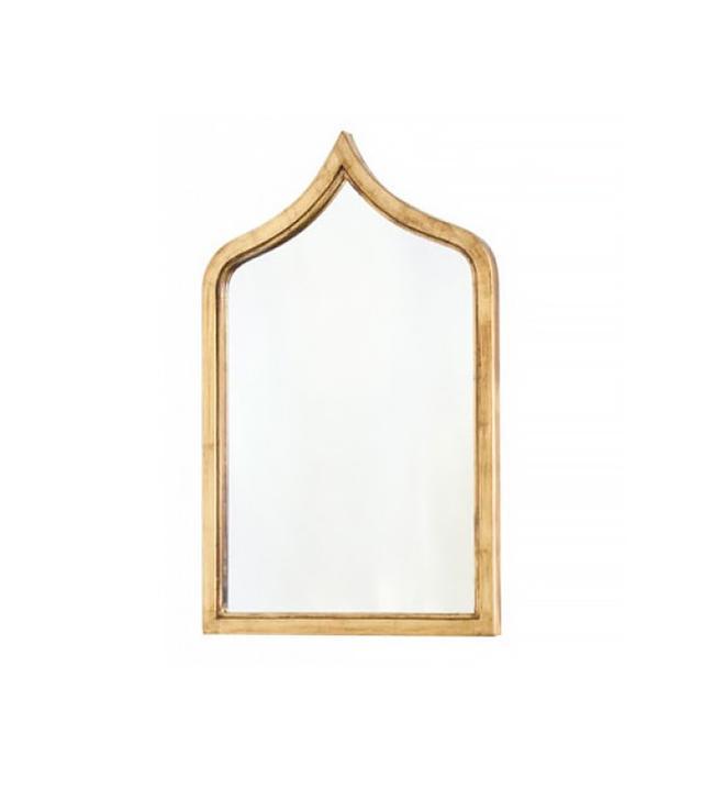 Worlds Away Zanzibar Moroccan-Style Gold-Leafed Wall Mirror