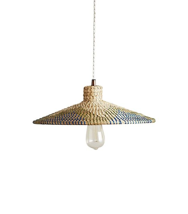Anthropologie Loa Rattan Pendant Lamp