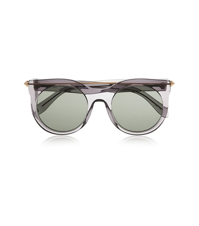 Alexander McQueen Round Frame Acetate and Metal Sunglasses