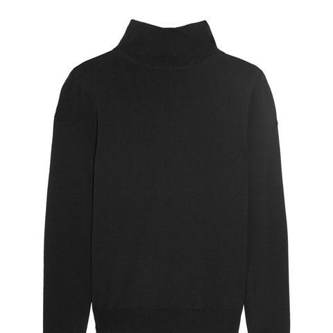 Bordeaux Knitted Turtleneck Sweater