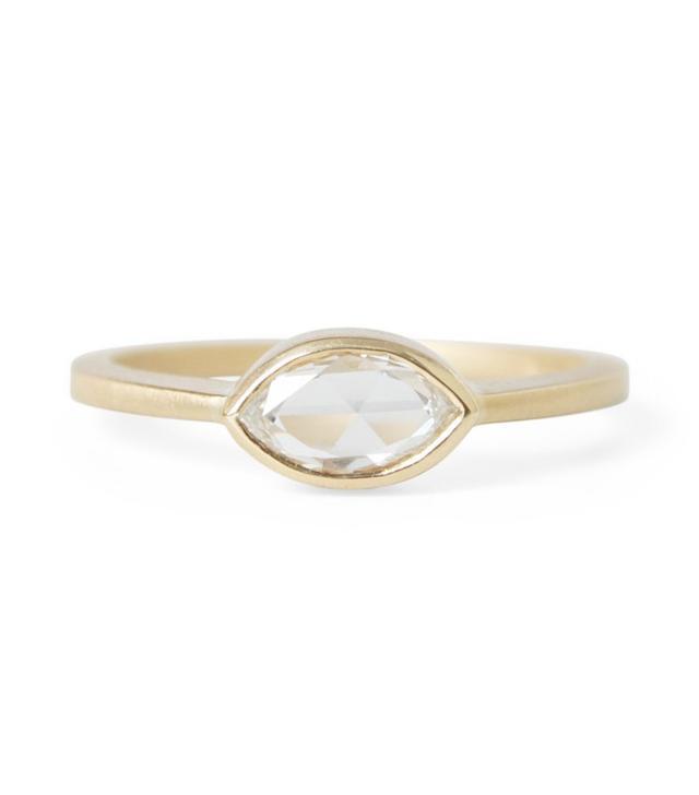 Gillian Conroy Rose Cut Marquise Diamond Ring