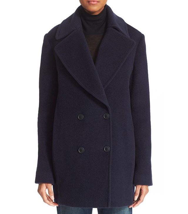 T by Alexander Wang Virgin Wool & Mohair Blend Peacoat