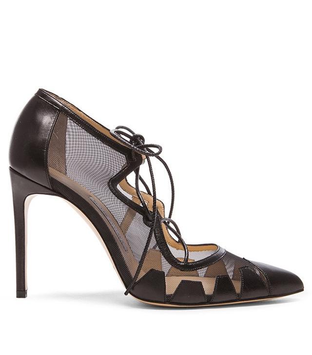 Bionda Castana Dekota Mesh & Leather Heels