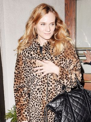 Found: Diane Kruger's Leopard Coat Is Marked Down to Under $1K