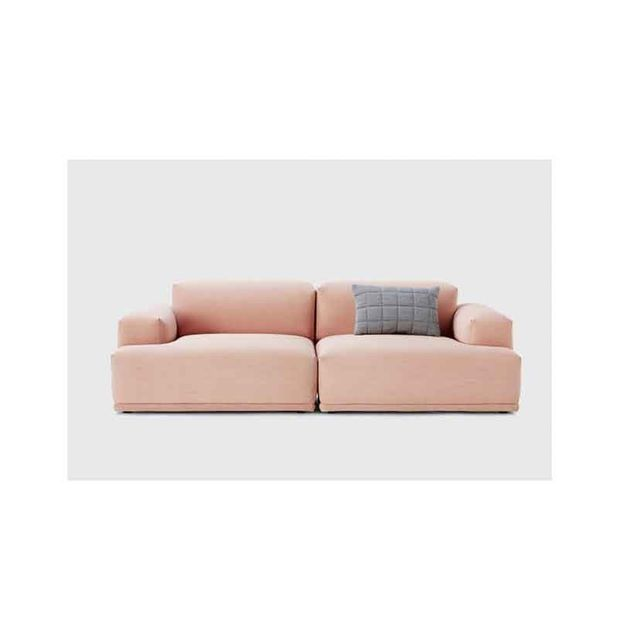 Connect Modular Two-Seat Sofa in Pink