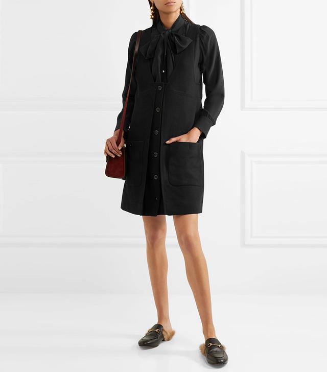 Wool-crepe Mini Dress