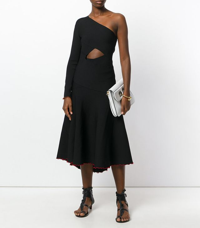 asymmetrical one sleeve dress