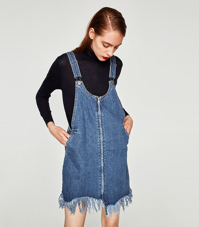 Zara Asymmetric Pinafore Dress