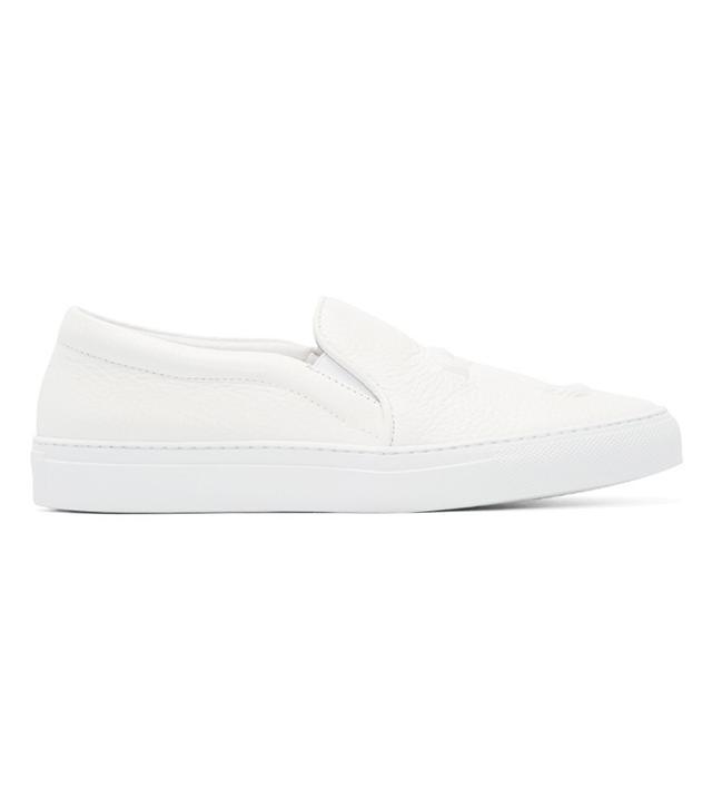 Joshua Sanders White 23 Slip-On Sneakers
