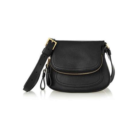 Jennifer mini textured-leather shoulder bag