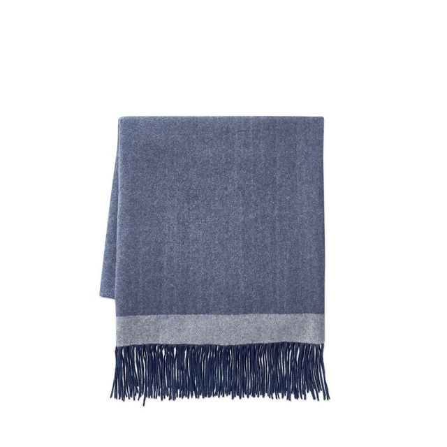 Border Reversible Cashmere Throw