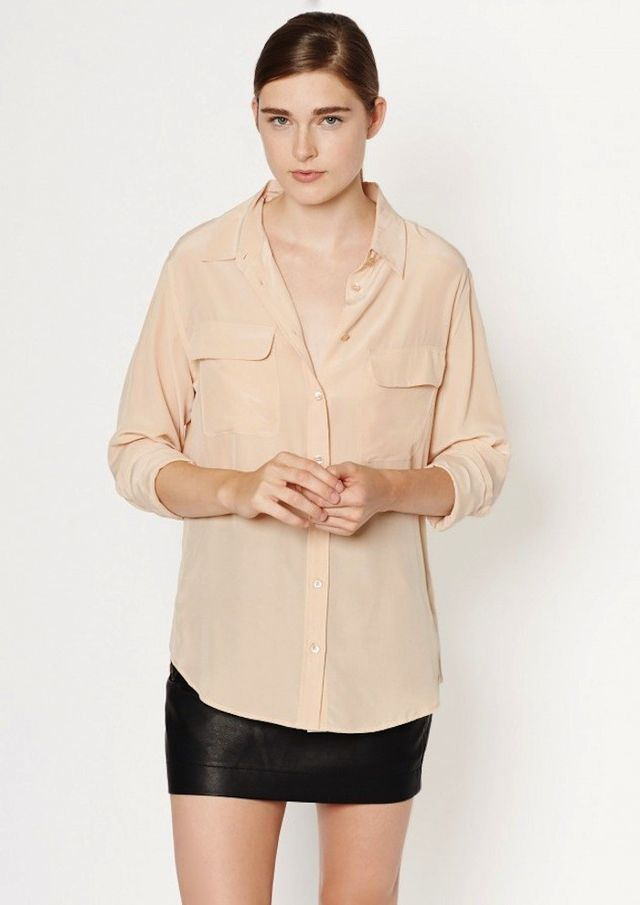 Equipment Signature Shirt in Nude