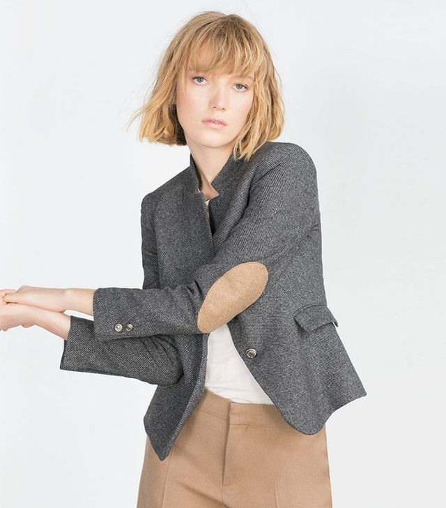 Zara Wool Herringbone Jacket