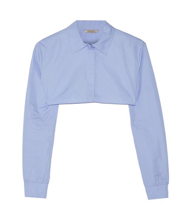 Nina Ricci Cropped Cotton Poplin Shirt