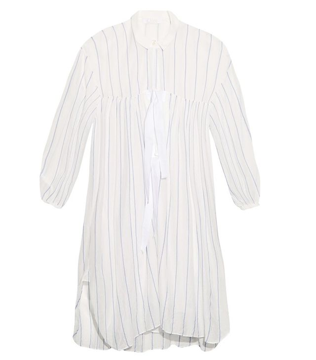 Chloé Striped Cotton and Silk-Blend Voile Dress
