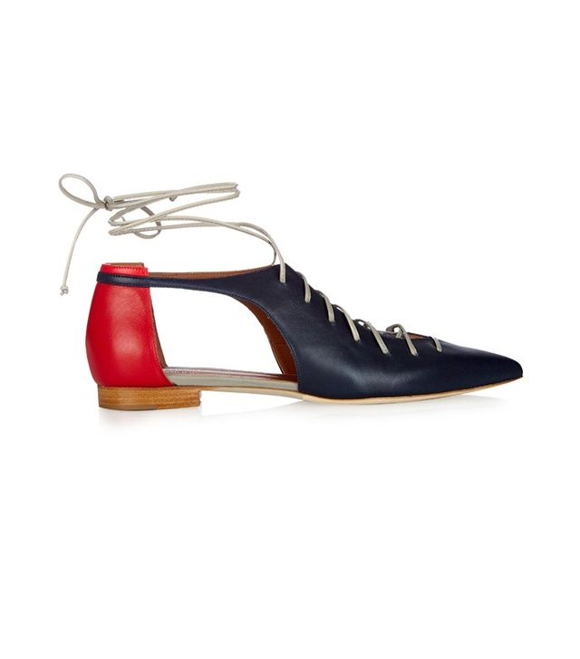 Malone Souliers Montana Lace-Up Leather Flats