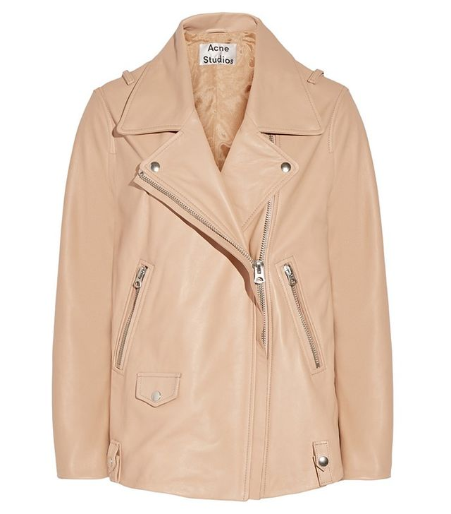 Acne Studios Swift Oversized Leather Biker Jacket