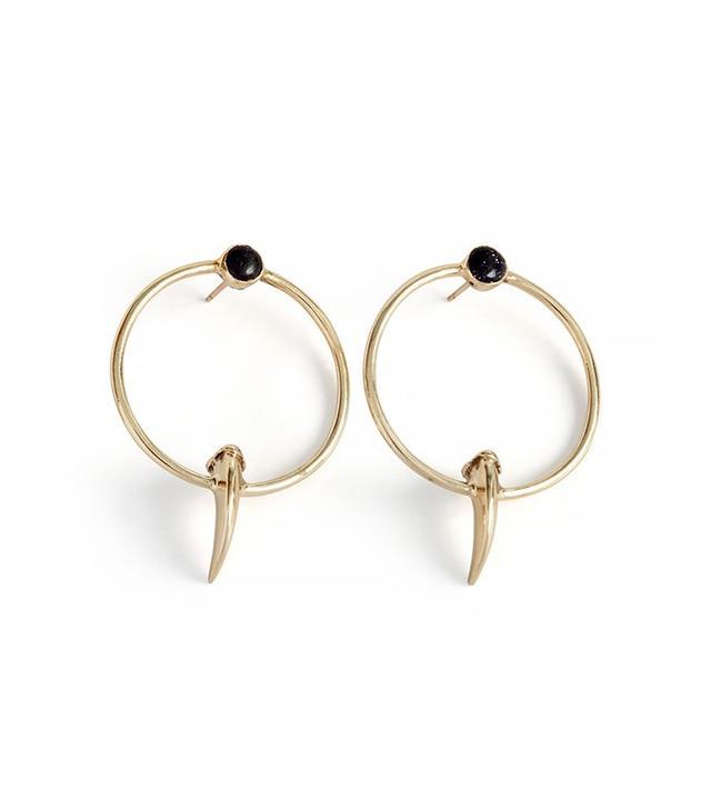 Leo Black Nuru Earrings